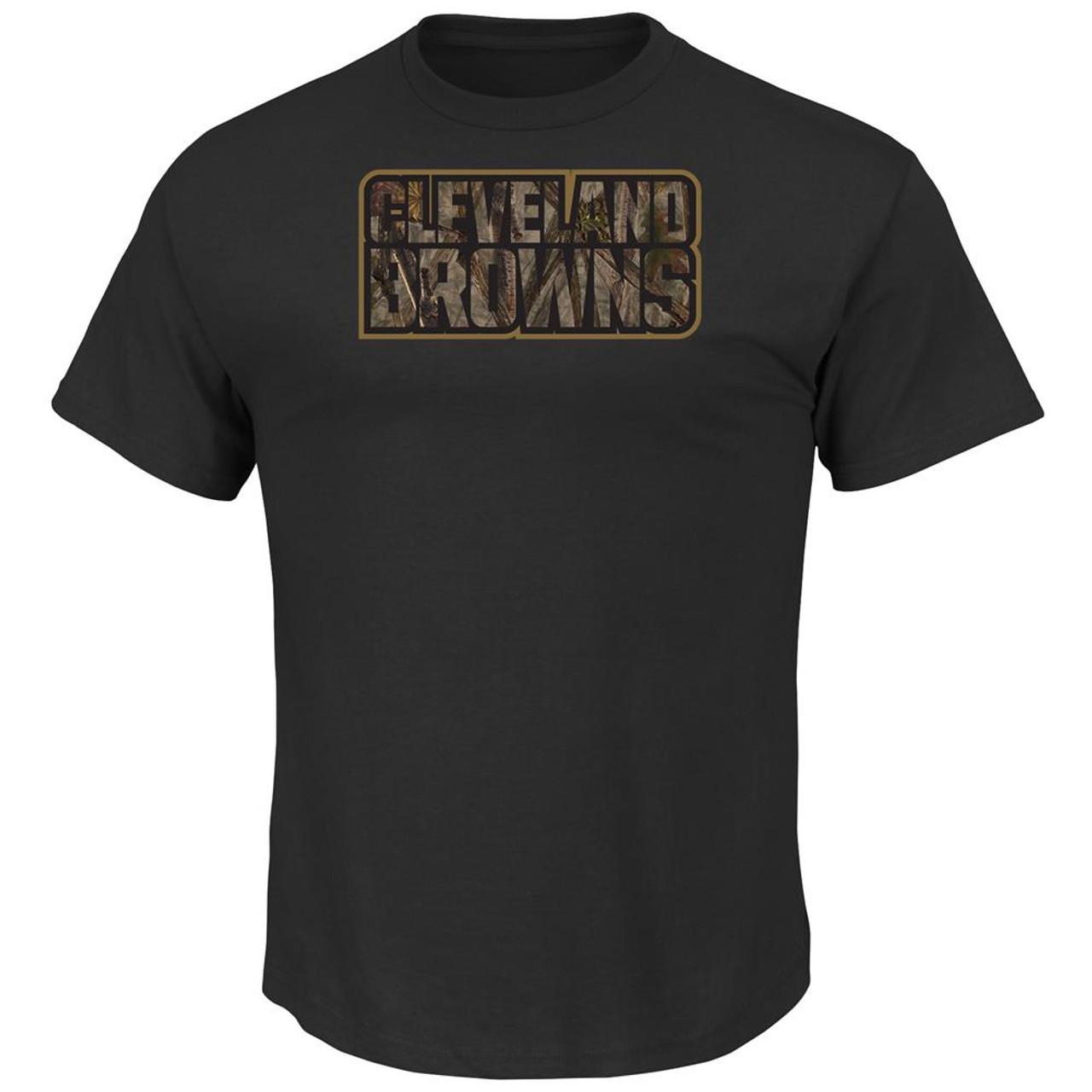 Men's Camo Tek Patch Cleveland Browns T-Shirt