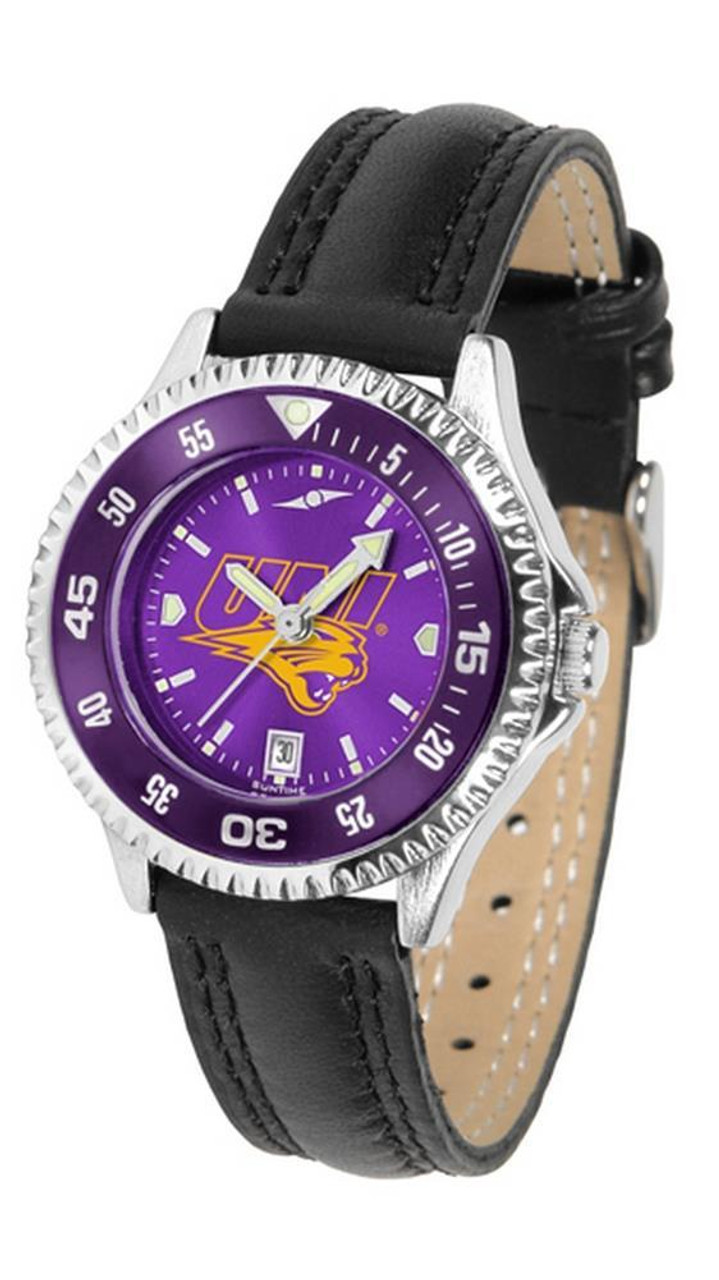 University of Northern Iowa Ladies Leather Competitor Watch