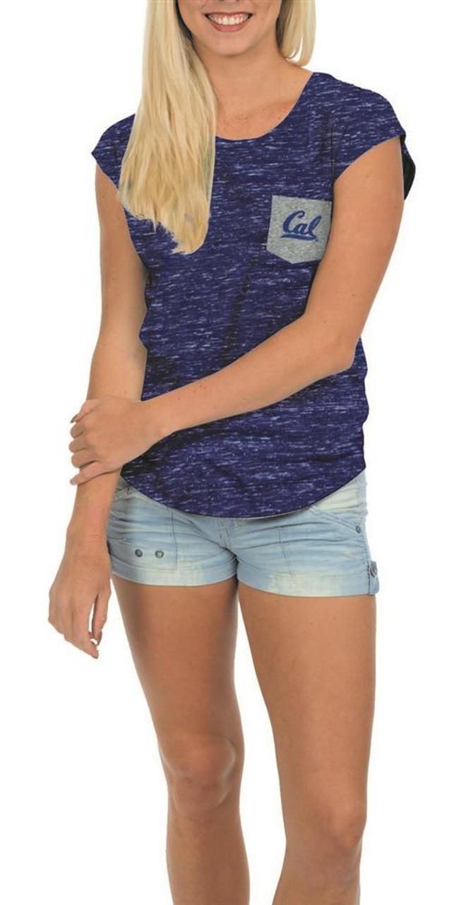 University of Oregon Ducks Ladies Pocket Tee Heathered Vintage T-Shirt