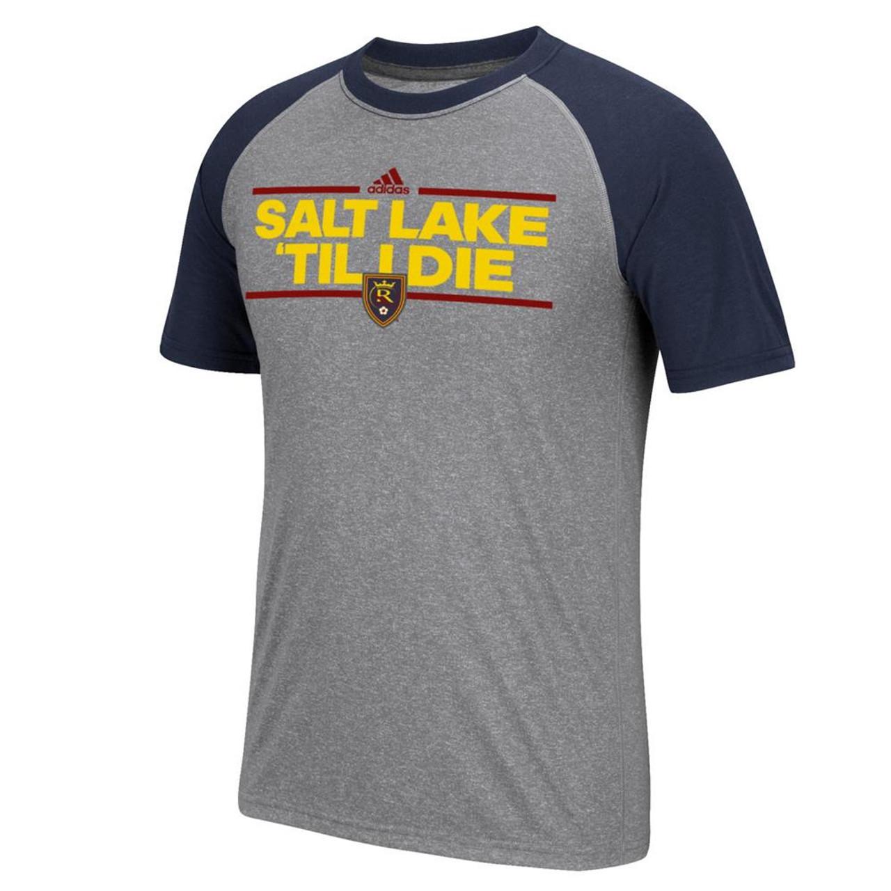 Real Salt Lake Men's Short Sleeve T-Shirt Adidas Dassler Raglan Tee