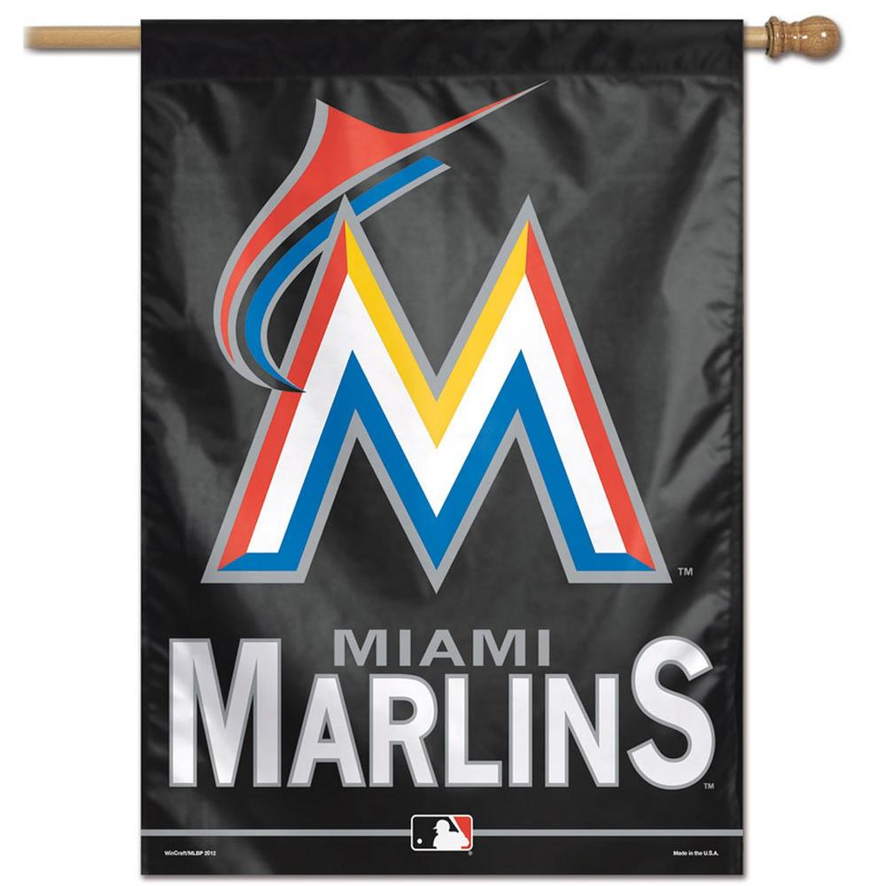 "Miami Marlin Flag 28"" x 40"" Vertical House Banner"
