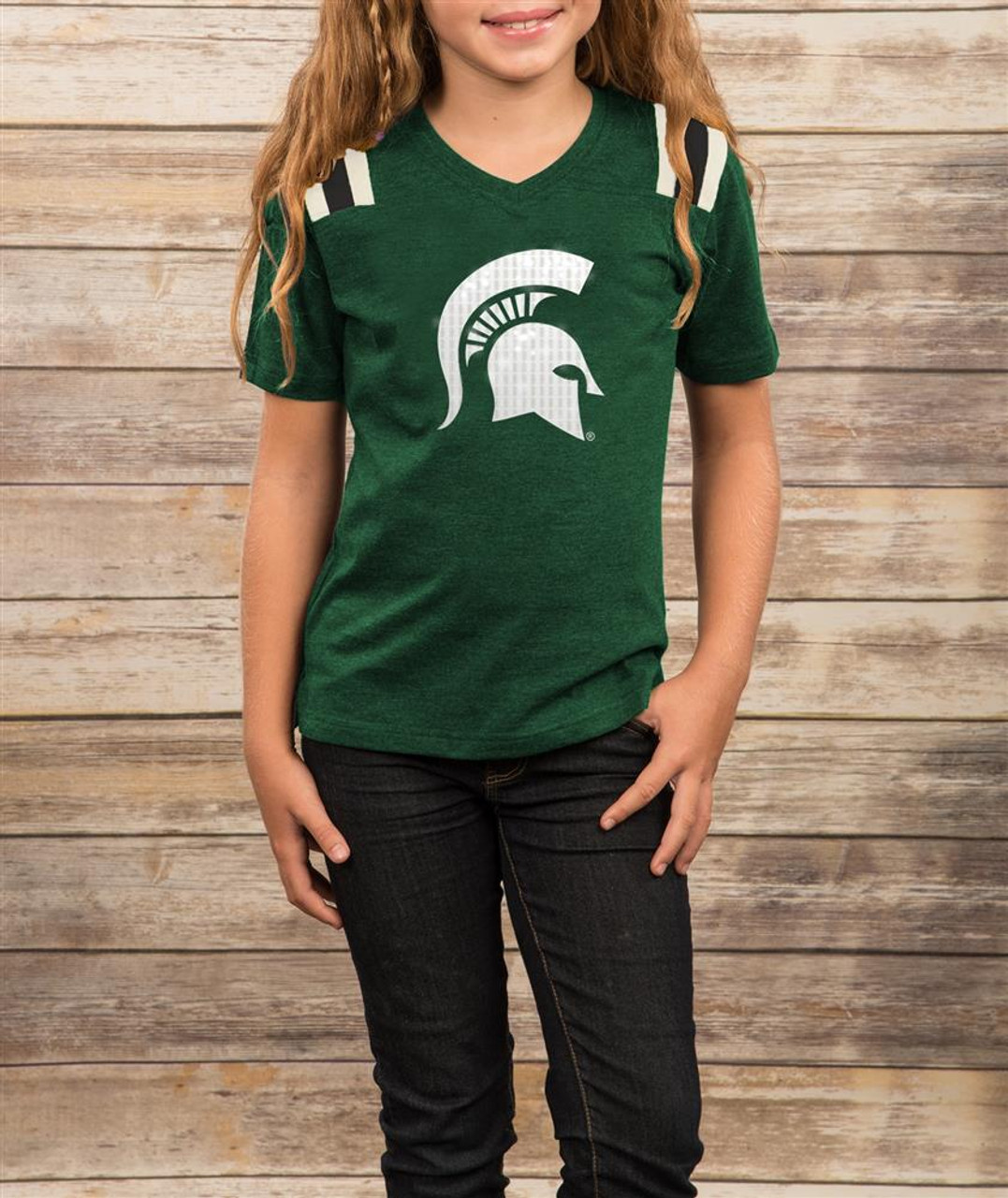 Youth Girls Colosseum Rugby Arkansas Razorback T-Shirt