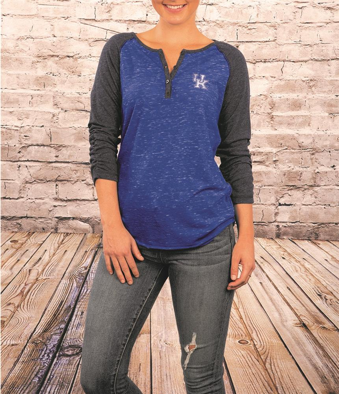 Ole Miss Rebels Ladies Henley T Shirt