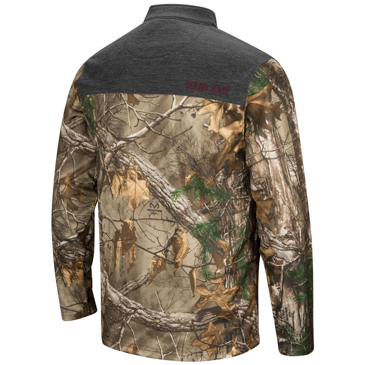 Quarter Zip Realtree Texas A&M Aggies Camo Jacket