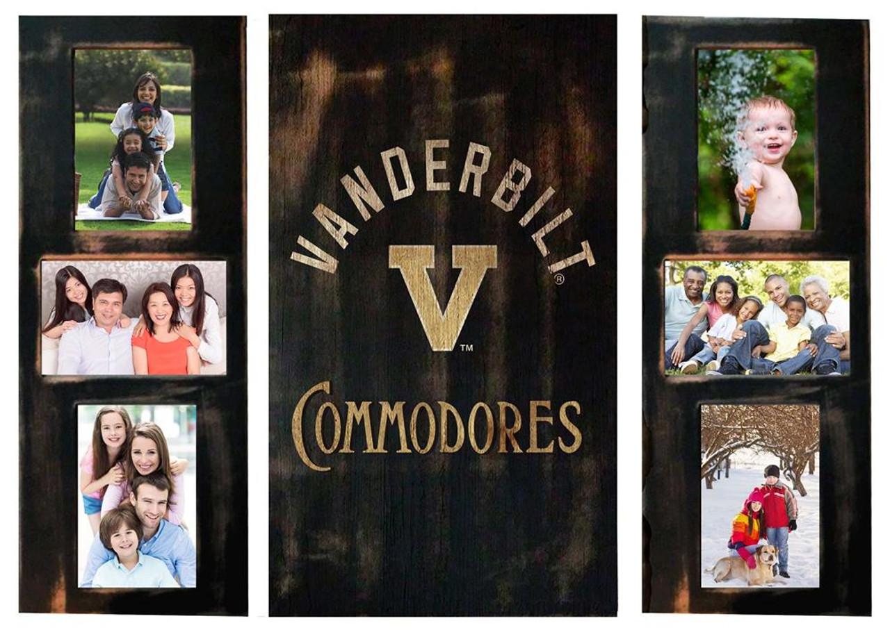 Vanderbilt University Vandy Picture Frames Set Wooden Photo Collage Frames
