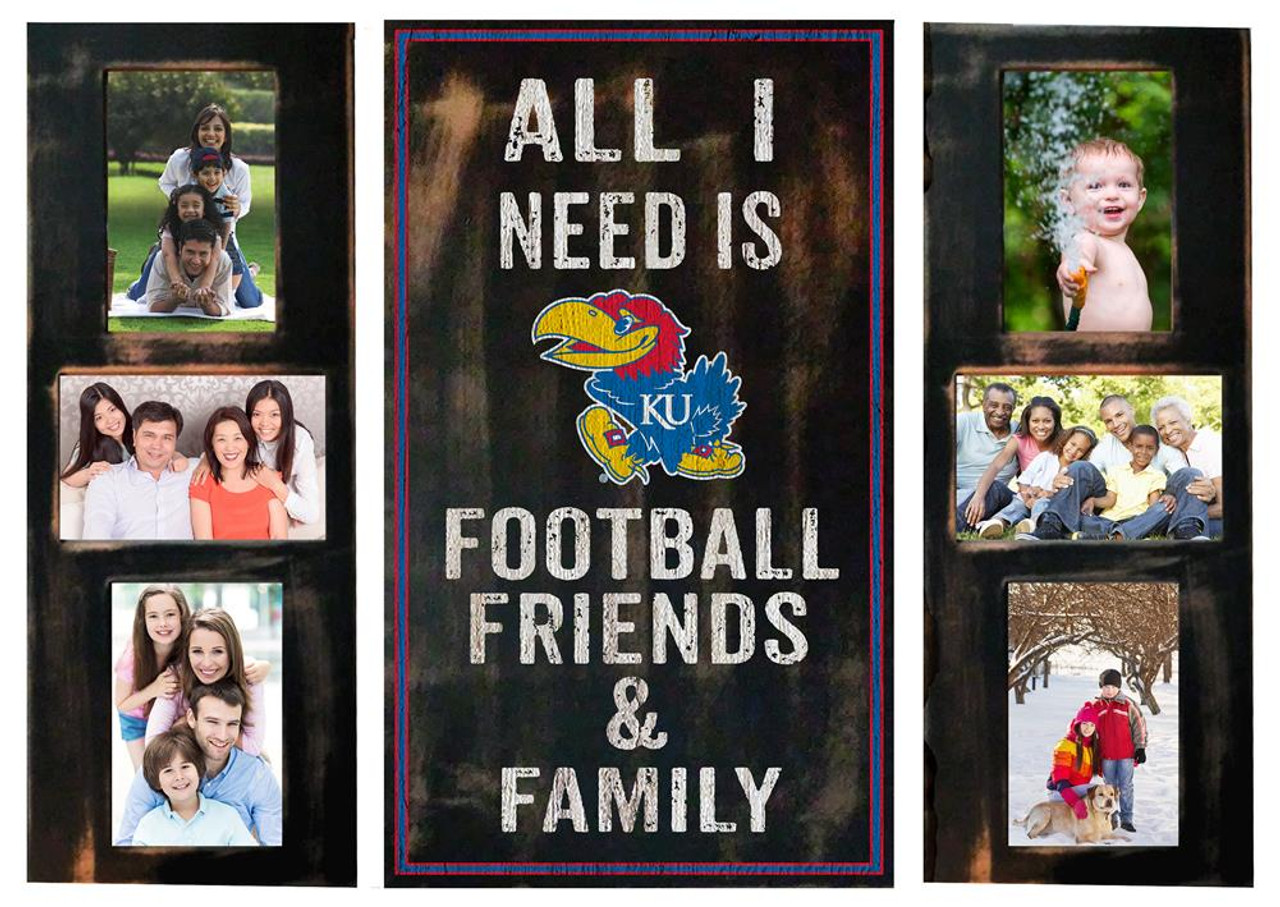Kansas Jayhawks KU Picture Frame Set All I Need 3pc Picture Collage