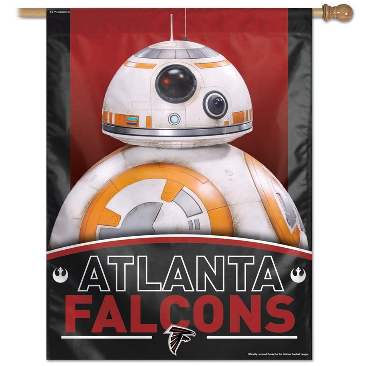 "27"" x 37"" Vertical Star Wars Atlanta Falcons House Flag"