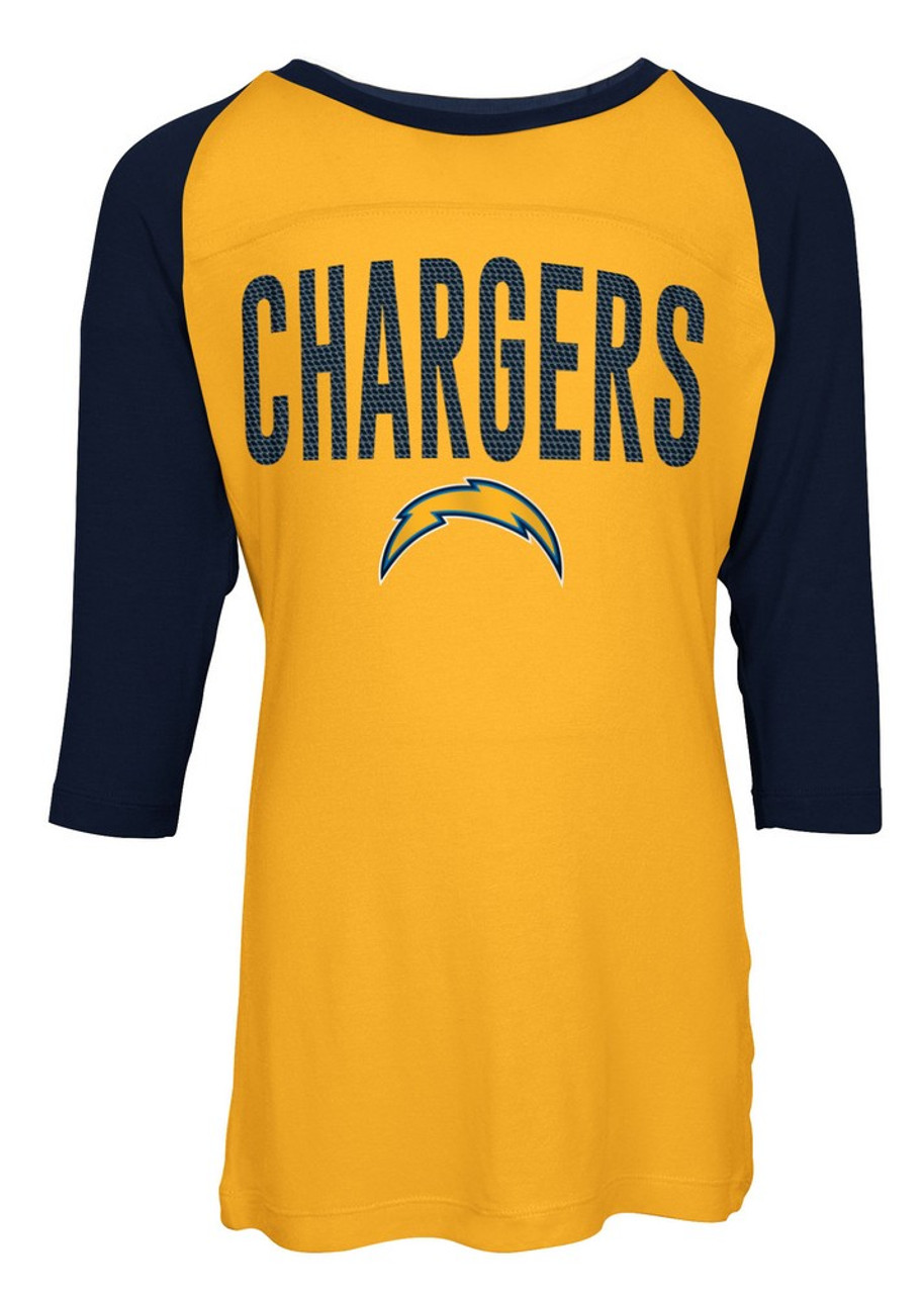 Los Angeles Chargers Raglan Shirt Youth Girls Graphic Tee