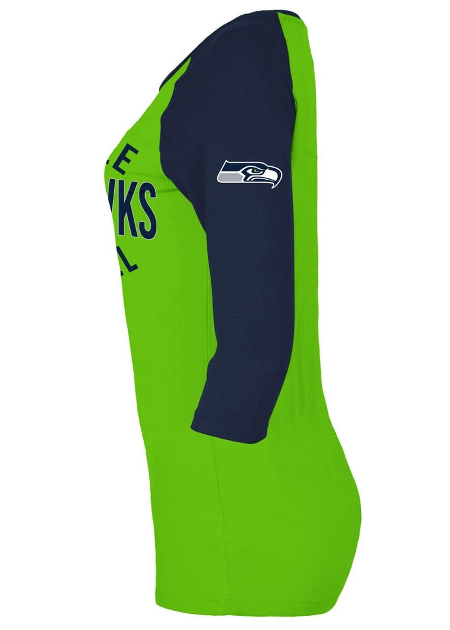 Seattle Seahawks Raglan Shirt Women's Graphic T-Shirt