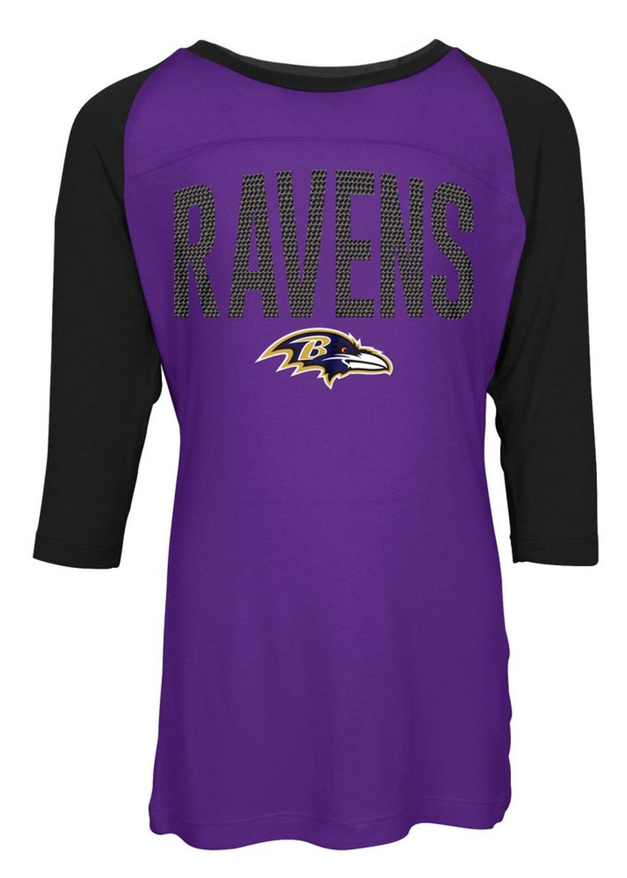 Baltimore Ravens Raglan Shirt Youth Girls Graphic Tee