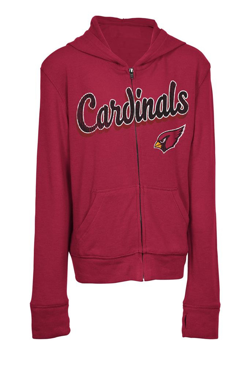 promo code 2e4ca f2bb2 Girls Arizona Cardinals Hoodie Full Zip Brushed Knit Jacket