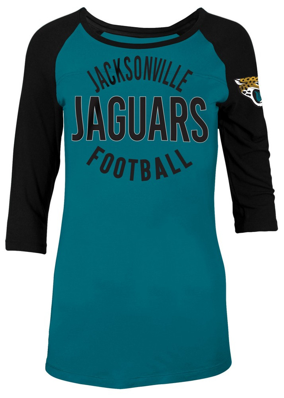 huge discount 53a54 95860 Jacksonville Jaguars Raglan Shirt Women's Graphic T-Shirt