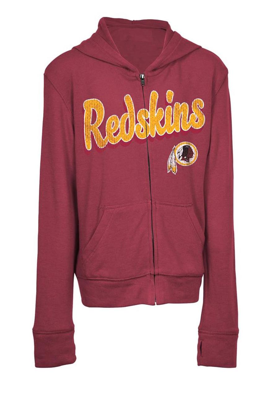 size 40 c97a7 116cf Girls Washington Redskins Hoodie Full Zip Brushed Knit Jacket