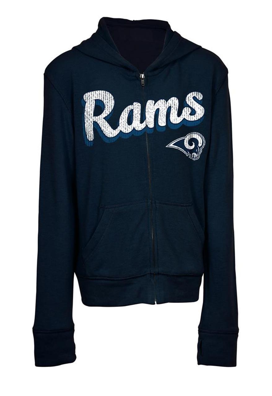 Girls Los Angeles Rams Hoodie Full Zip Brushed Knit Jacket