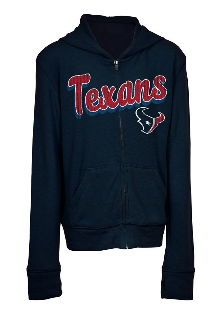 Girls Houston Texans Hoodie Full Zip Brushed Knit Jacket 69a39483e