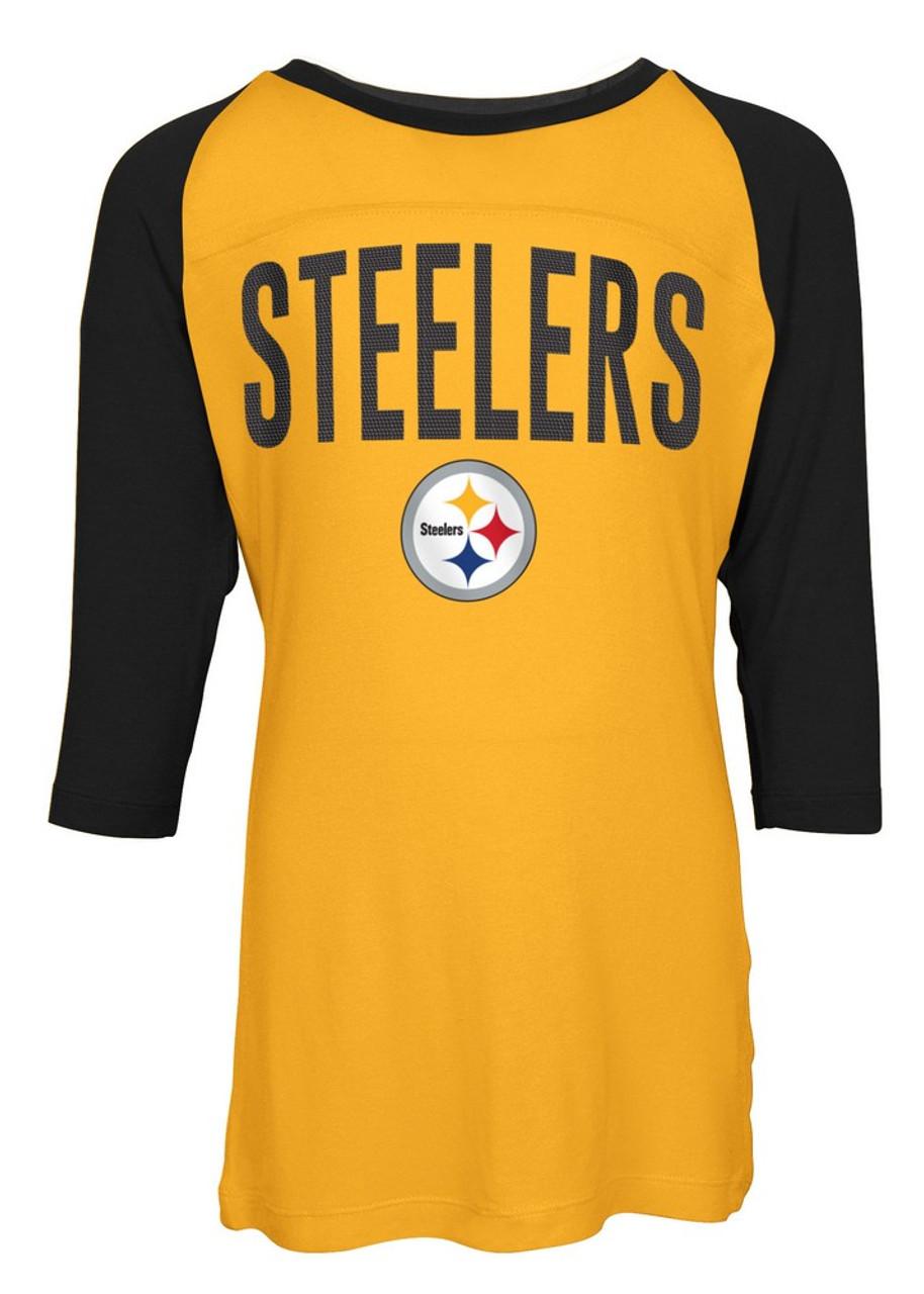 Pittsburgh Steelers Raglan Shirt Youth Girls Graphic Tee