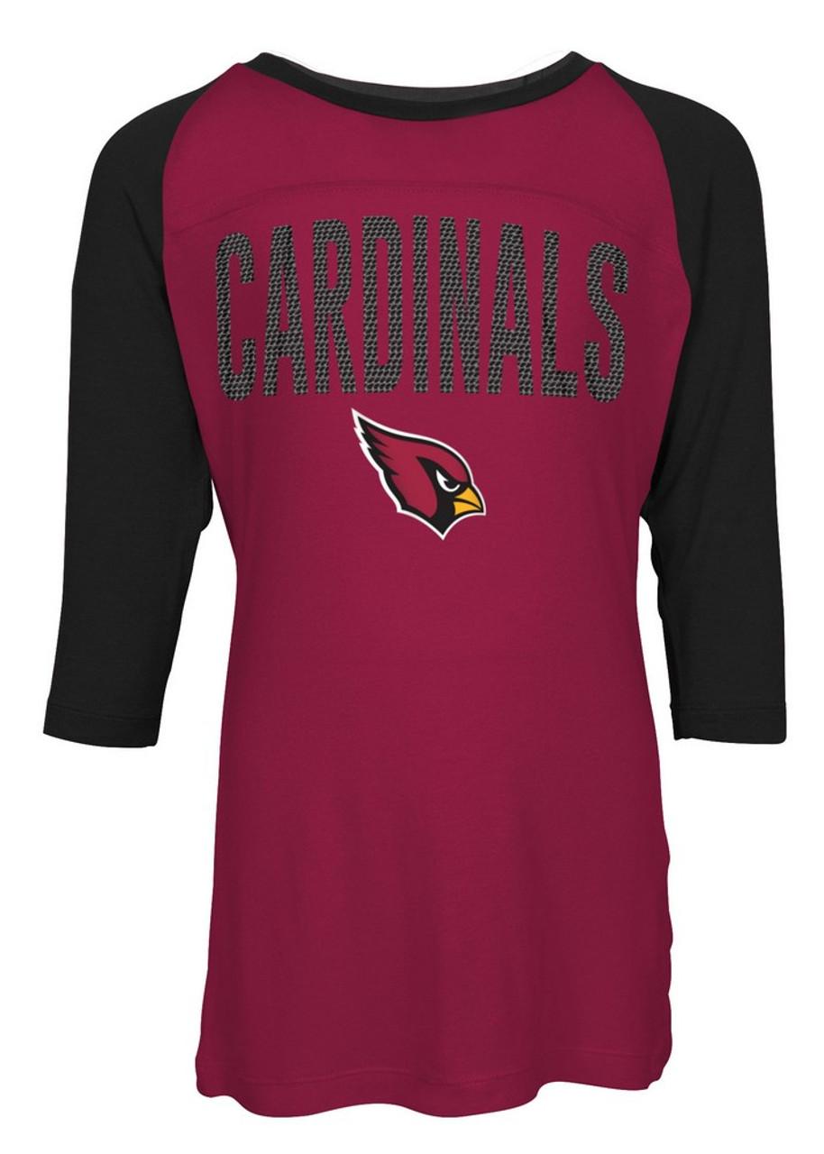 Arizona Cardinals Raglan Shirt Youth Girls Graphic Tee