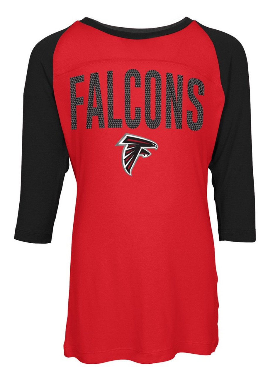 Atlanta Falcons Raglan Shirt Youth Girls Graphic Tee  for sale