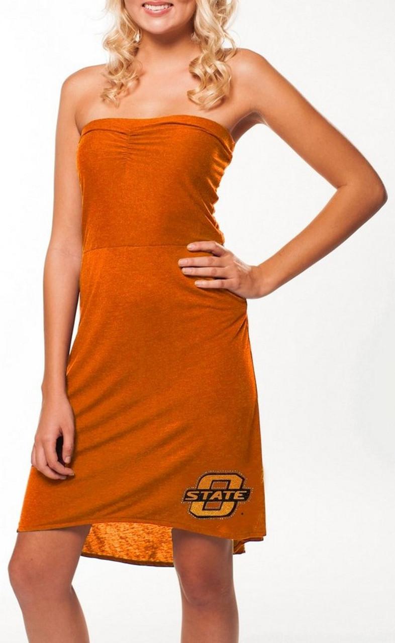 Slim Fit Oklahoma State University High Low Dress
