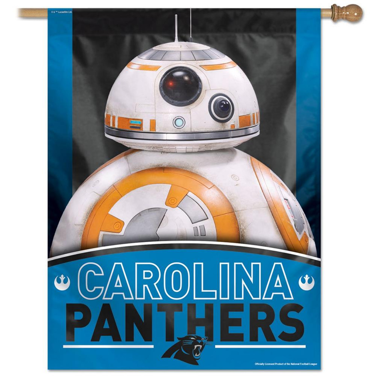 "27"" x 37"" Vertical Star Wars Carolina Panthers House Flag"