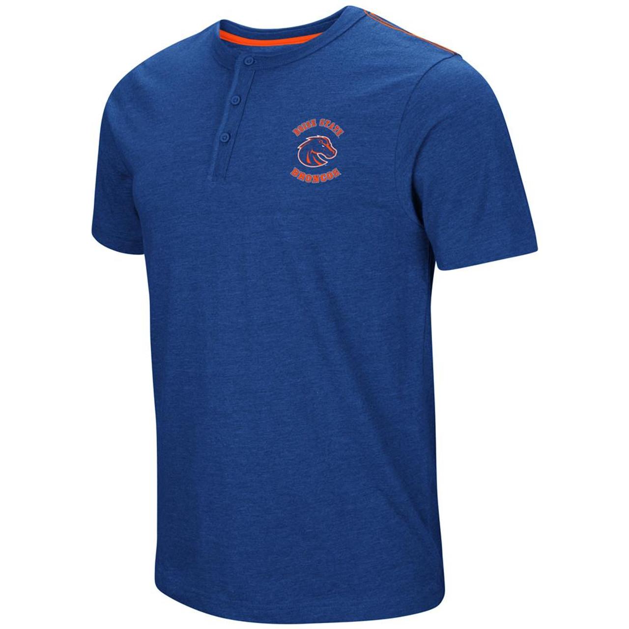 Boise State Broncos Henley Shirt Men's Short Sleeve T-Shirt