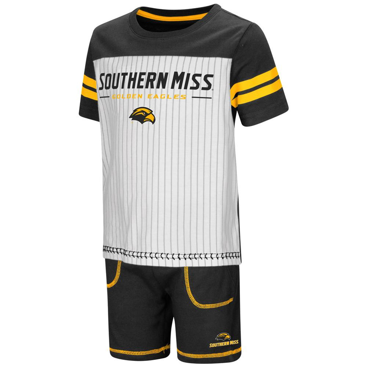 Southern Miss USM Toddler Boy's Shorts and Baseball T-Shirt Set