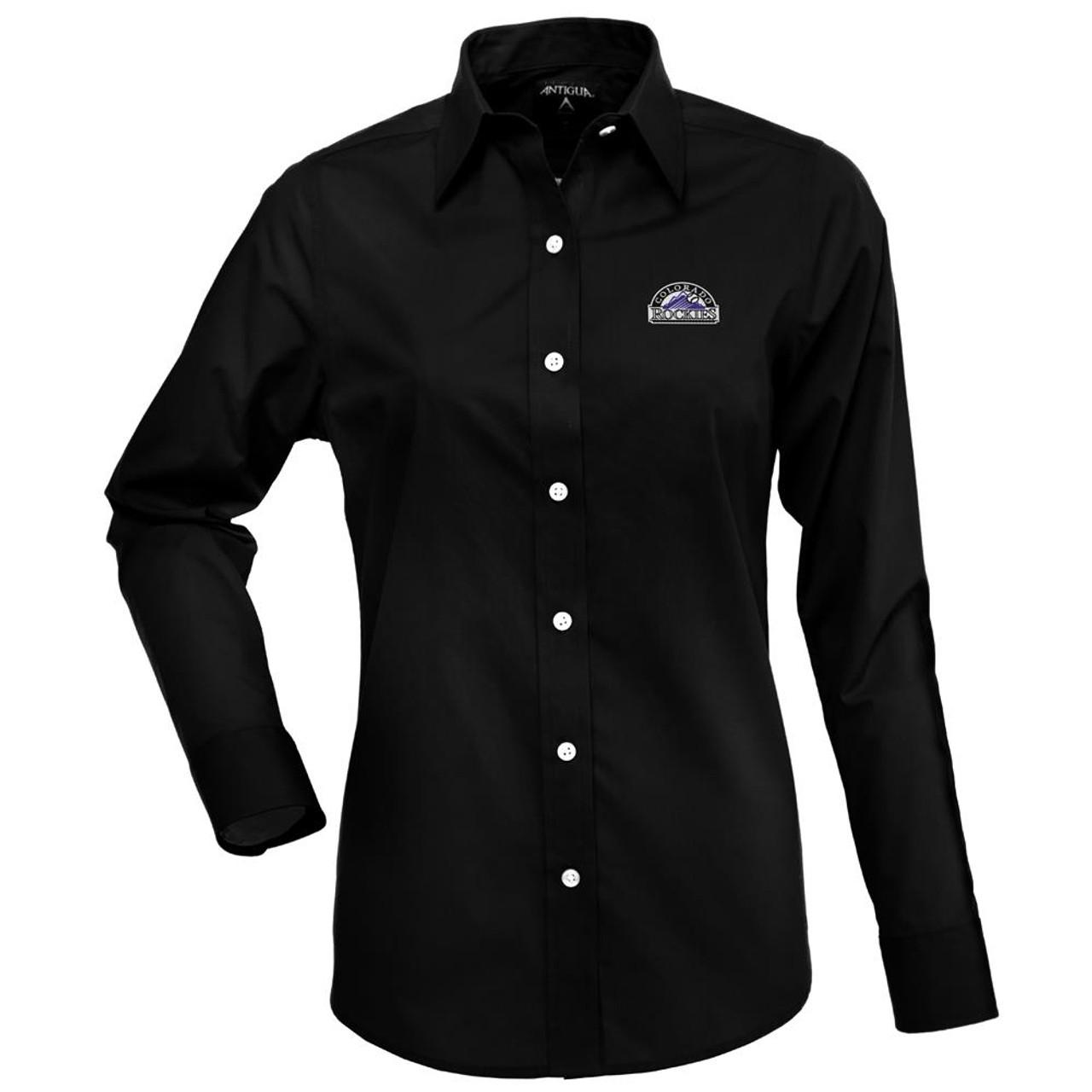 Colorado Rockies Women's Long Sleeve Dress Shirt