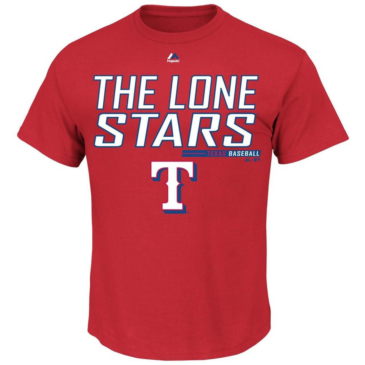 Texas Rangers Majestic Laser Like Focus T-Shirt