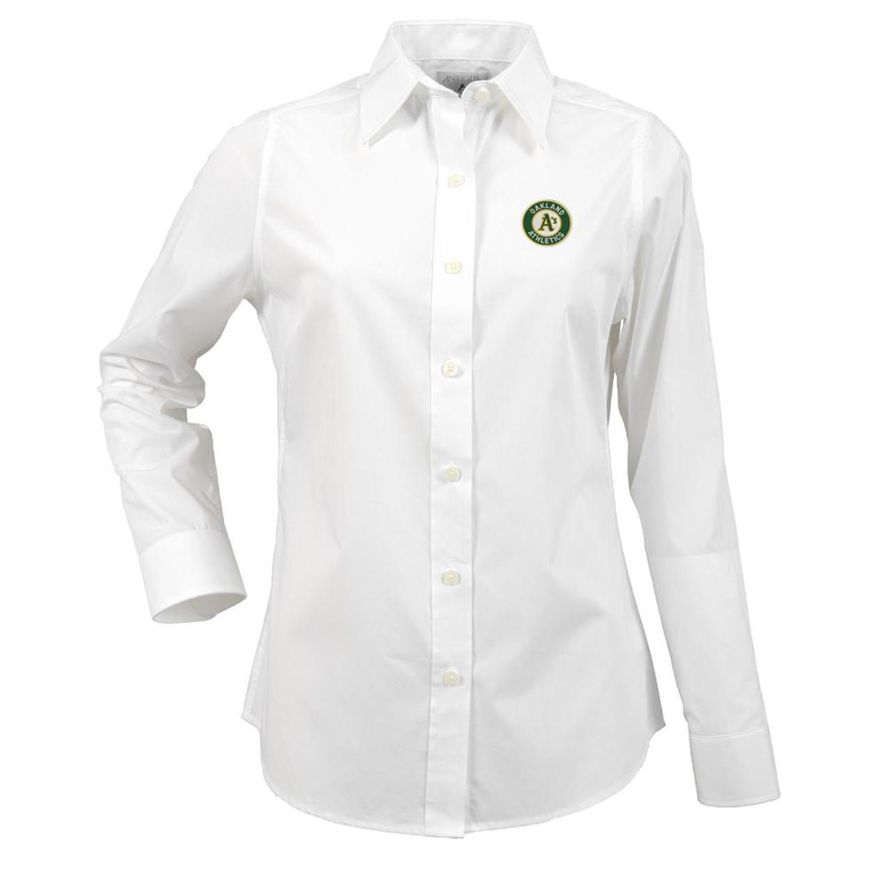 Oakland Athletics Women's Long Sleeve Dress Shirt