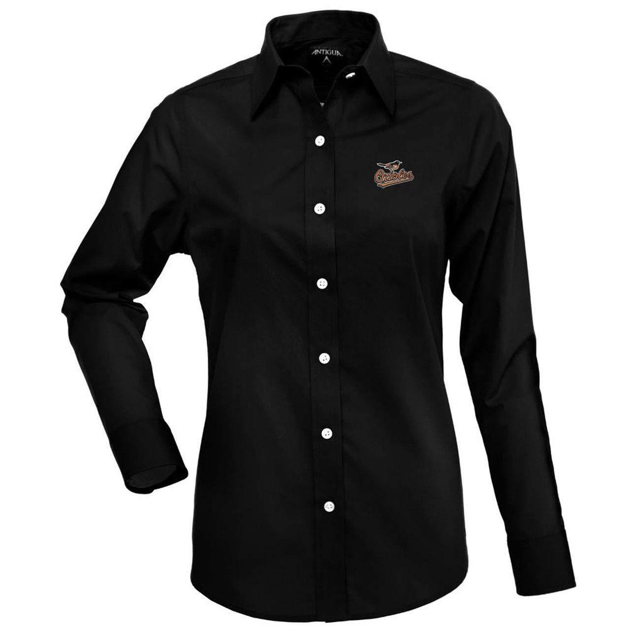 Baltimore Orioles Women's Long Sleeve Dress Shirt