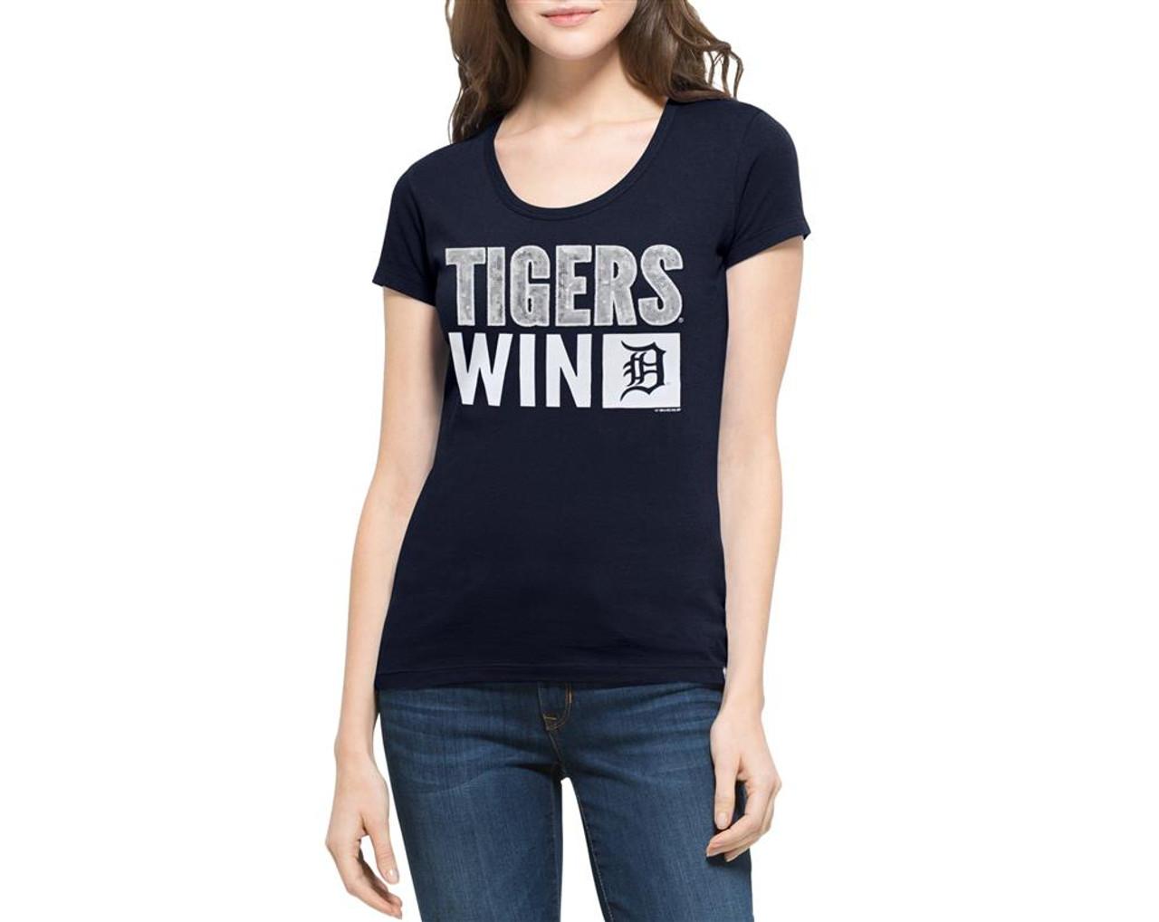 Detroit Tigers Sparkle Scoop Tee