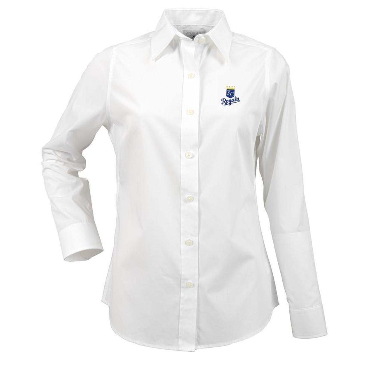 Kansas City Royals Women's Long Sleeve Dress Shirt
