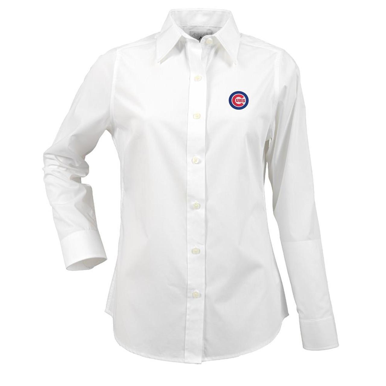 Chicago Cubs Women's Long Sleeve Dress Shirt