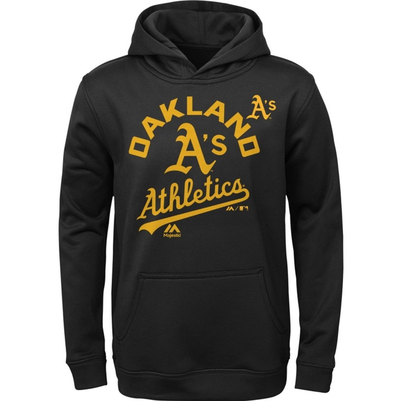 Men's Oakland Athletics Synthetic Pullover Hoodie