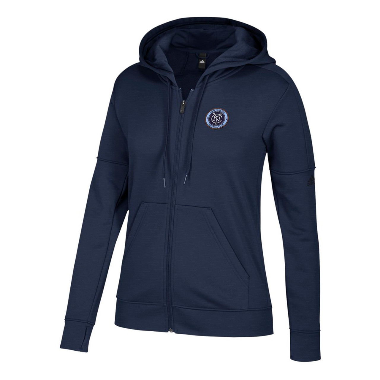 New York City FC Hoodie Women's Team Issue Zip Up Jacket