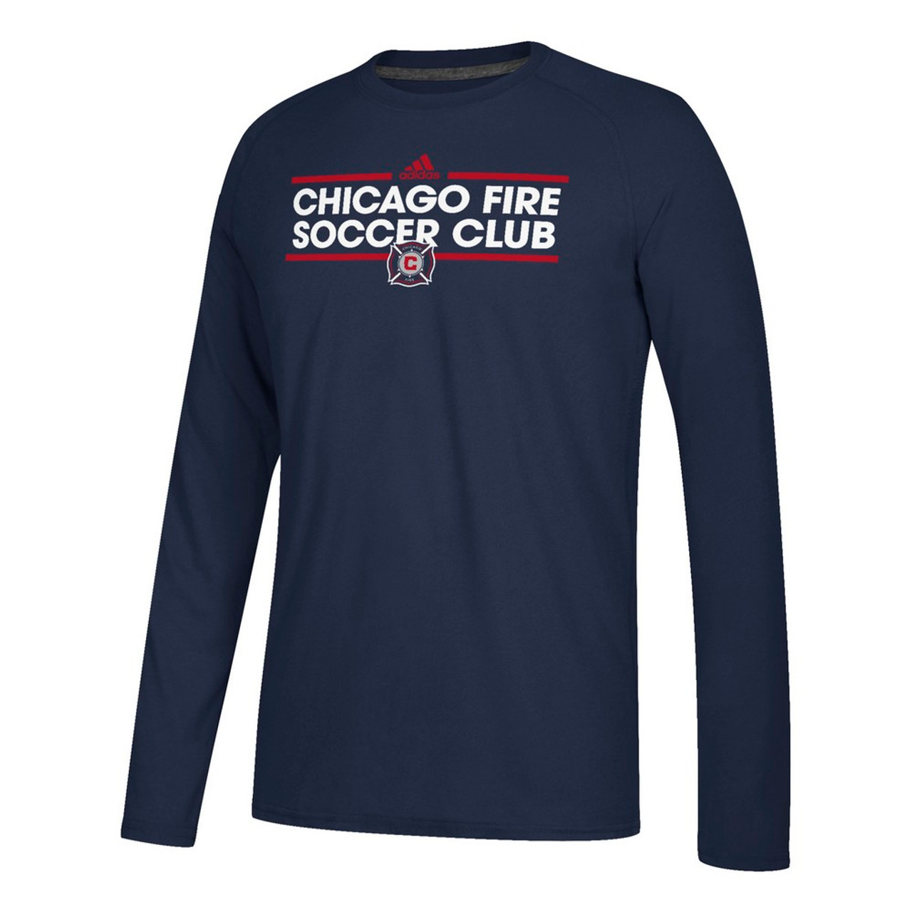 Chicago Fire Long Sleeve Adidas Ultimate T-Shirt