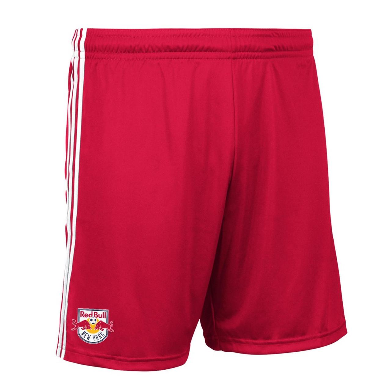 New York Red Bulls Shorts Replica Adidas Soccer Shorts