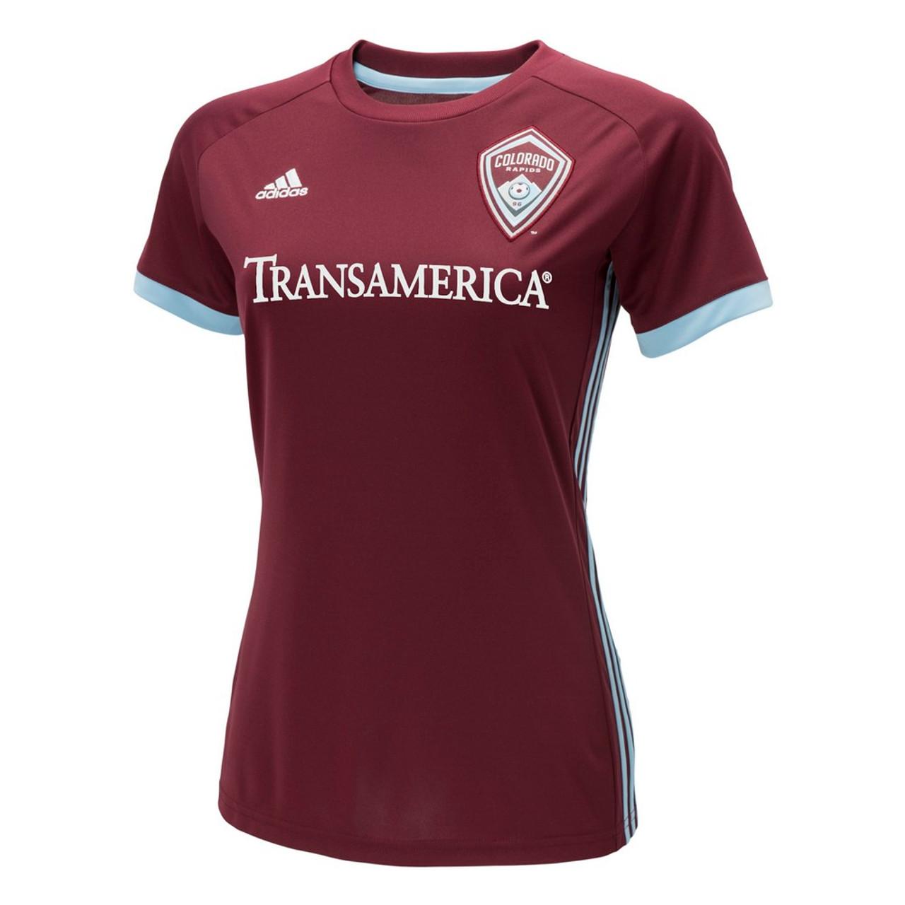 Colorado Rapids Women's Jersey Adidas Home Replica Soccer Jersey