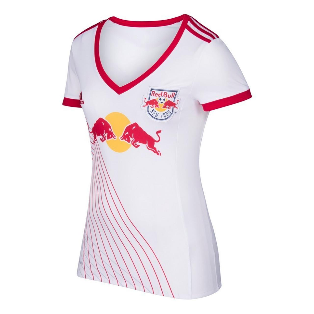 online retailer c54dc 910d6 New York Red Bulls Women's Jersey Adidas Home Replica Soccer Jersey