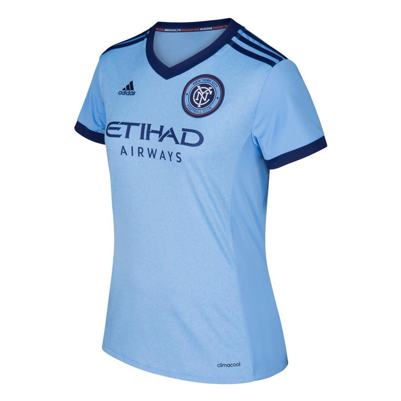 New York City FC Women's Jersey Adidas Home Replica Soccer Jersey
