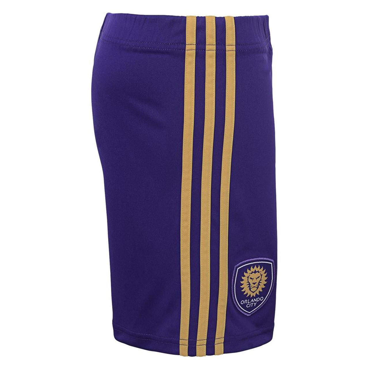 Youth Orlando City SC Shorts Adidas Primary Gym Shorts
