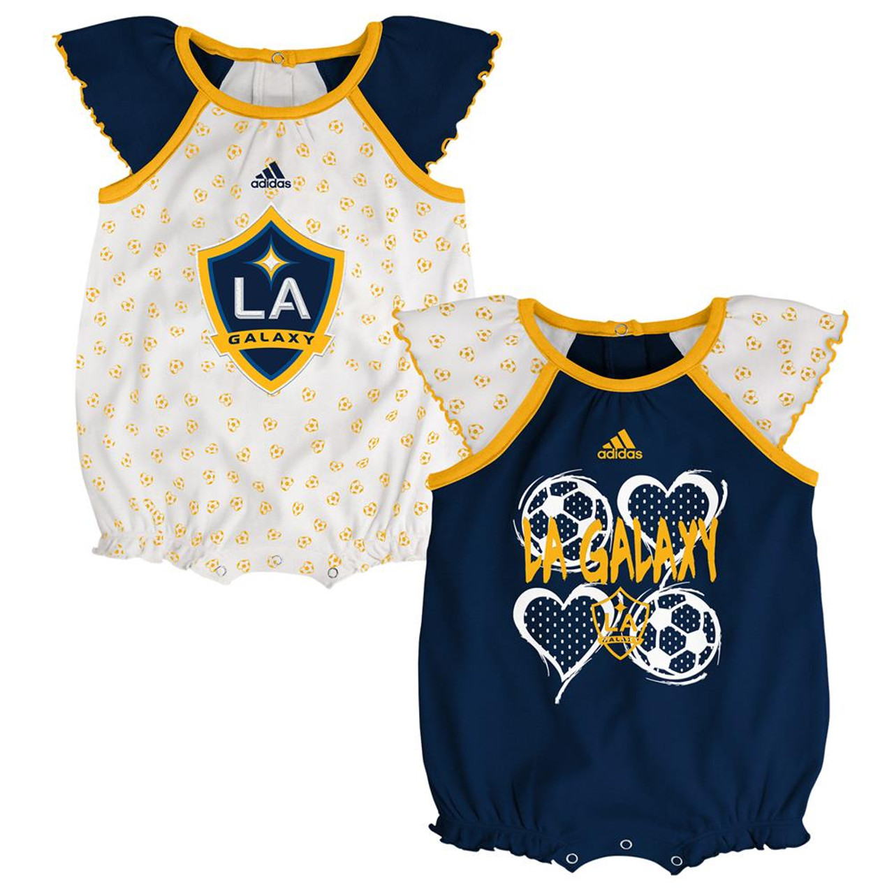 Los Angeles Galaxy Infant Bodysuit Adidas Baby Snapsuit Set