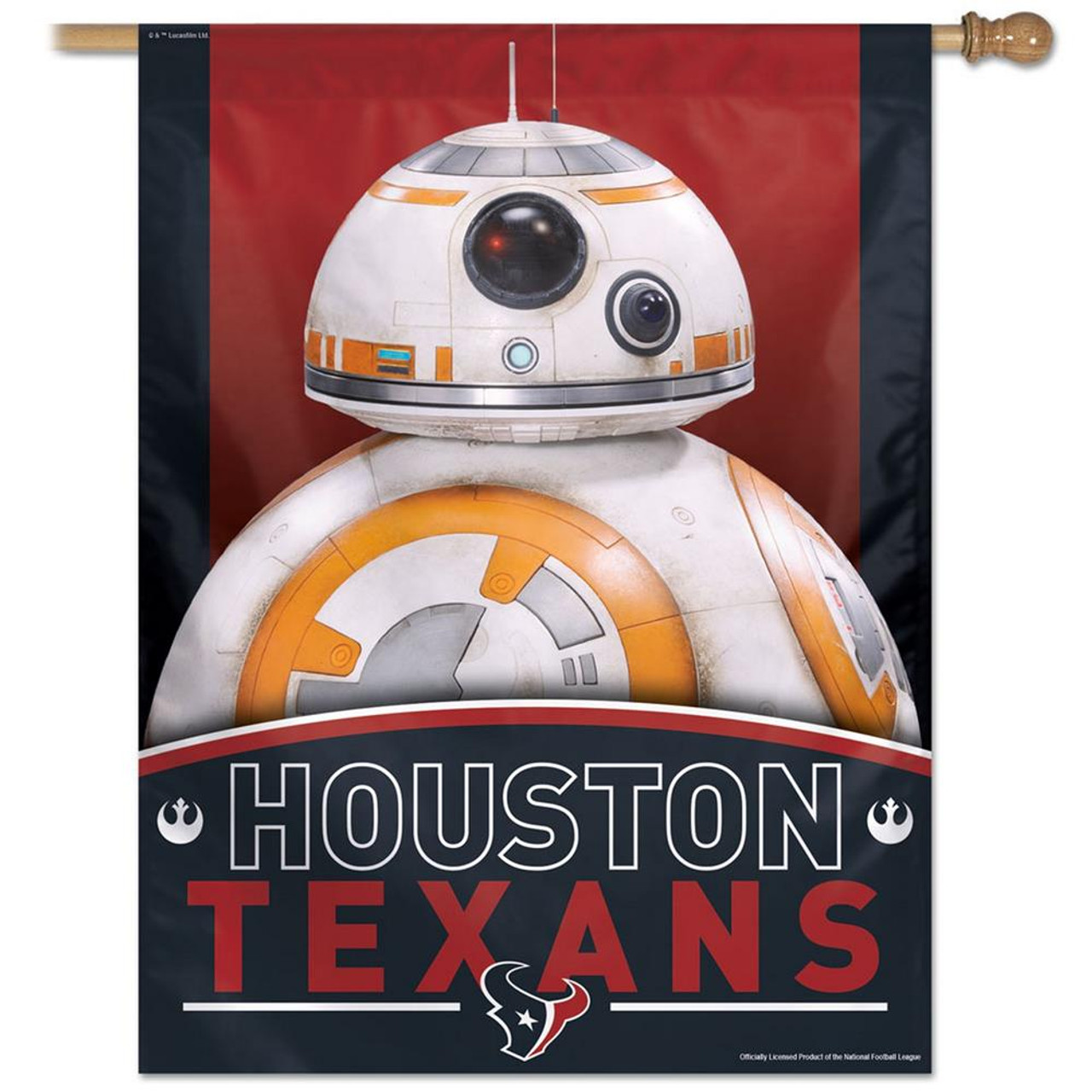 "27"" x 37"" Vertical Star Wars Houston Texans House Flag"