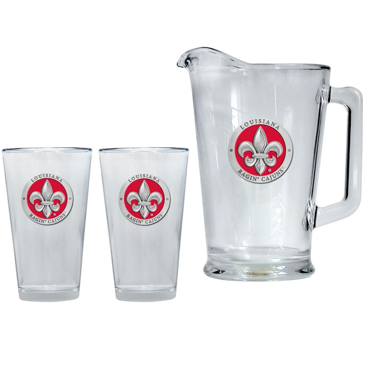 Louisiana Lafayette Pitcher and 2 Pint Glass Set Beer Set