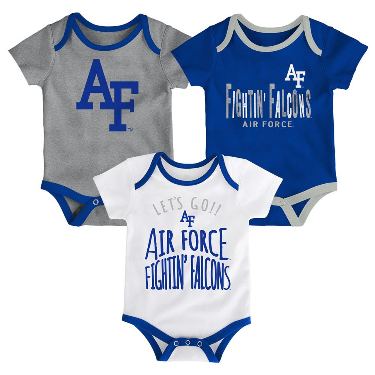 Air Force Academy Falcons Infant Creeper Set Lil Tailgater 3 Pack