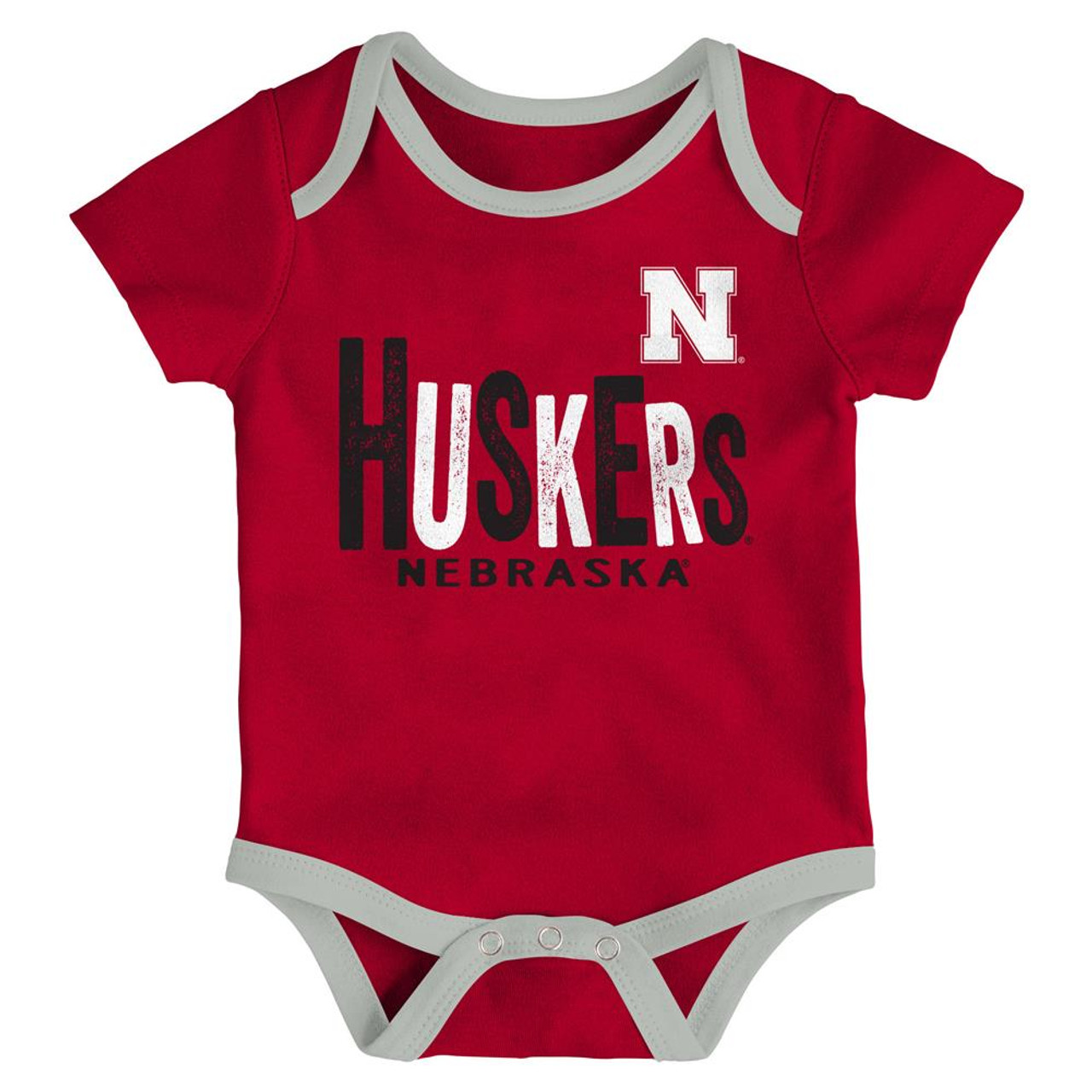 Nebraska Cornhuskers Infant Creeper Set Lil Tailgater 3 Pack