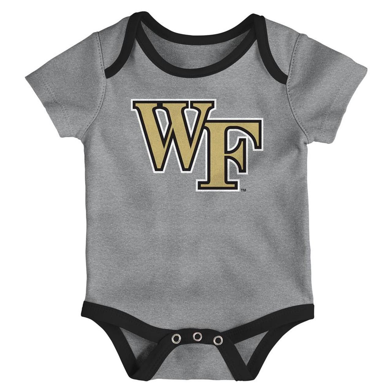 Wake Forest University Infant Creeper Set Lil Tailgater 3 Pack
