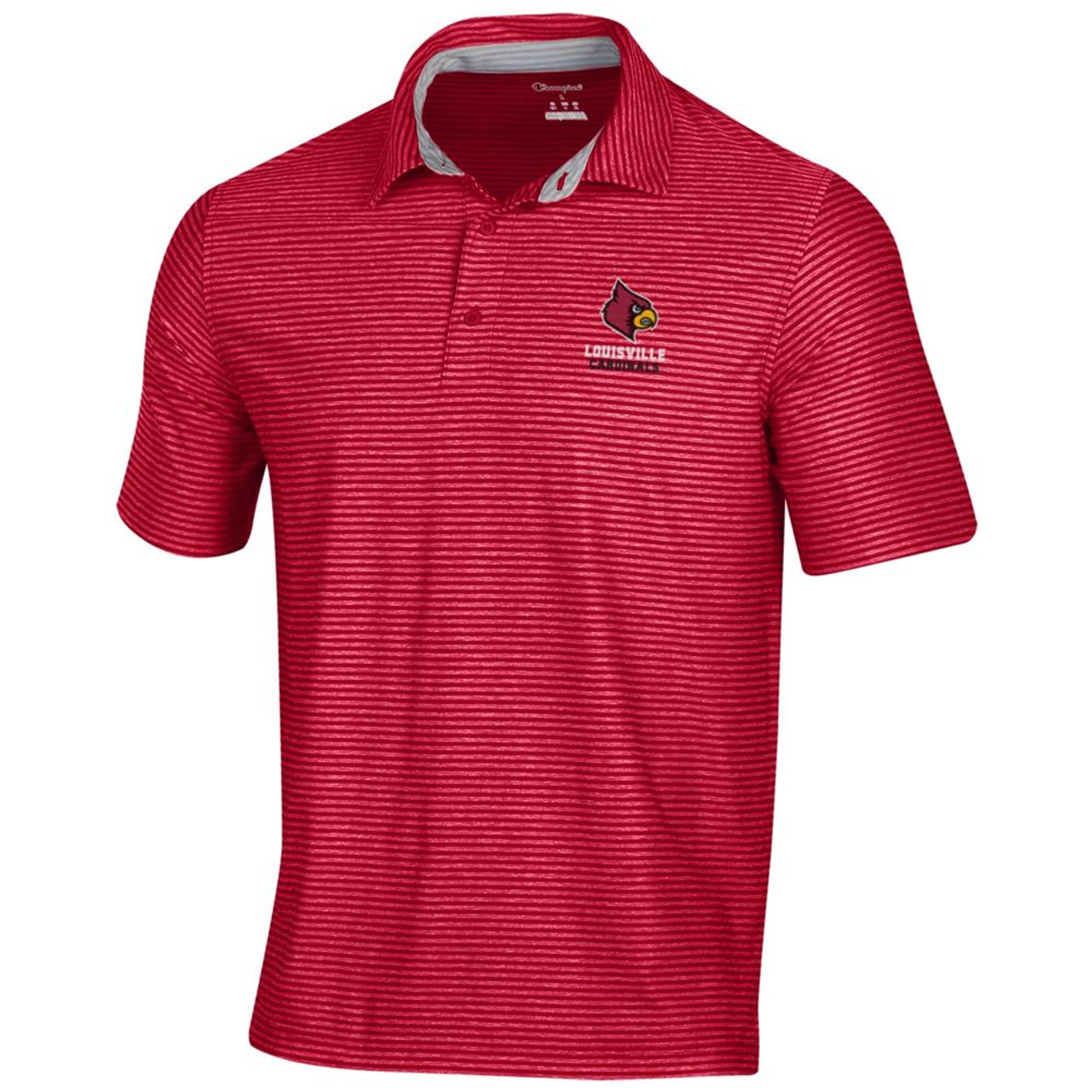 Louisville Cardinals Men's Polo Champion Tonal Stripe Polo
