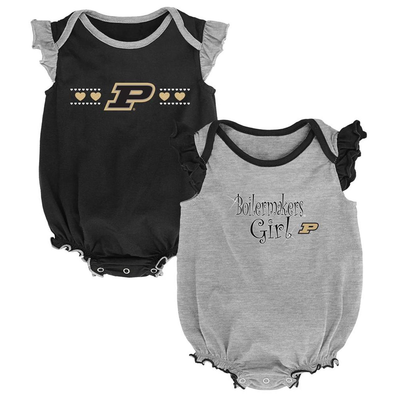 Purdue University Creeper 2 Pack Homecoming Bodysuit Set