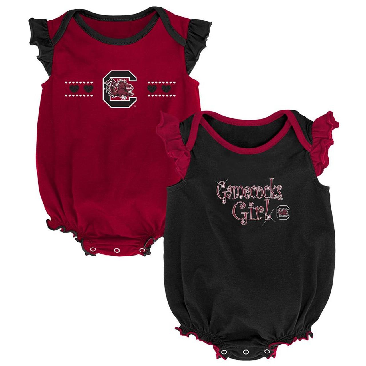 Bib and Bootie Set Infant Set Outerstuff South Carolina Gamecocks Creeper